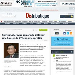Samsung termine son année 2013 sur une hausse de 27% pour les profits