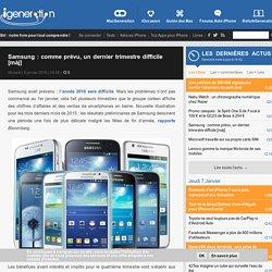 Samsung : comme prévu, un dernier trimestre difficile [màj]