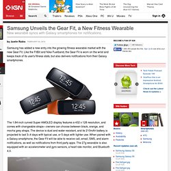 Samsung Unveils the Gear Fit, a New Fitness Wearable