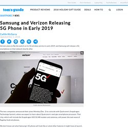 Samsung and Verizon Releasing 5G Phone in Early 2019
