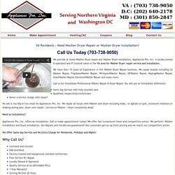 Samsung washer dryer repair in VA