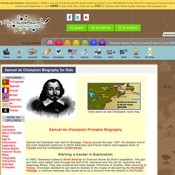 Samuel de Champlain Biography for Kids «