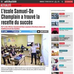 L'école Samuel-De Champlain a trouvé la recette du succès