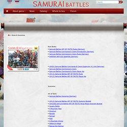 Samurai Battles - historical wargames