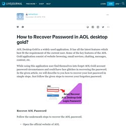 How to Recover Password in AOL desktop gold? : samwillson — LiveJournal