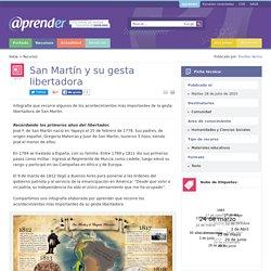 San Martín y su gesta libertadora