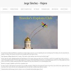 Jorge Sánchez – Viajero » Traveler's Exploits Club