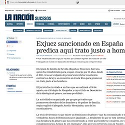 Exjuez sancionado en España predica aquí trato justo a hombres