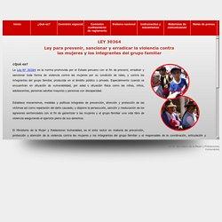 Ley 30364 - Ley para prevenir, sancionar y erradicar la violencia contra las mujeres y loss integrantes del grupo familiar