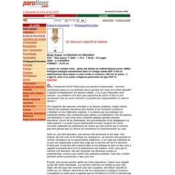 La Sanction en éducation - Eirick Prairat