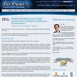 GROS DÉLIRE] Quand l'AMF sanctionne les blogueurs plutôt que les financiers !