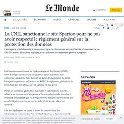 La CNIL sanctionne le site Spartoo pour ne pas avoir respecté le règlement général sur la protection des données