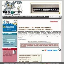 Cyberaction N° 1301: Pêche électrique La Commission doit sanctionner les Pays-Bas