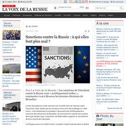 Sanctions contre la Russie : à qui elles font plus mal ?