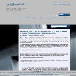 Sanctions de la LOPD en Espagne - Avocats Espagne - Mariscal Avocats Espagne