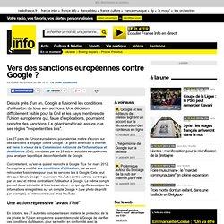 Vers des sanctions européennes contre Google ?