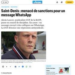 Saint-Denis : menacé de sanctions pour un message WhatsApp