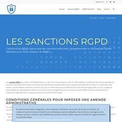 Les sanctions - Règlement Général sur la Protection des Données