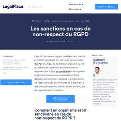 Sanctions en cas de non-respect du RGPD : guide complet