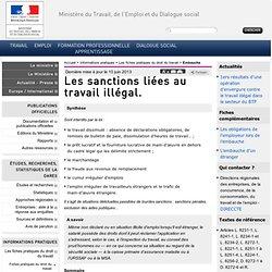Les sanctions liées au travail illégal.
