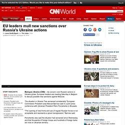 EU mulls new sanctions over Russia's Ukraine actions