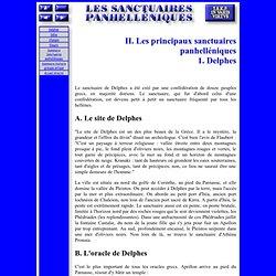 Sanctuaires panhelléniques - II,1 - Delphes