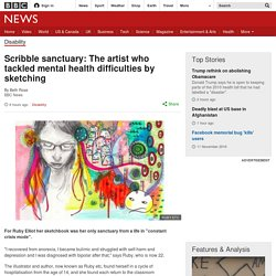 Scribble sanctuary: The artist who tackled mental health difficulties by sketching