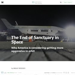 The End of Sanctuary in Space — War Is Boring