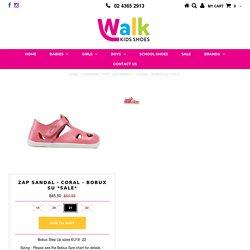 Zap Sandal - Coral - Bobux SU *SALE* – Walk Kids Shoes