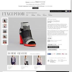 Sandales Colorblock Corail As I Am en vente chez L'Exception