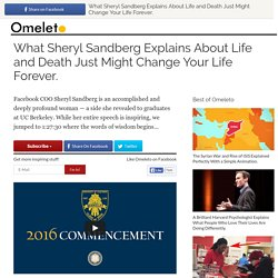 Sheryl Sandberg's Commencement Speech at UC Berkeley
