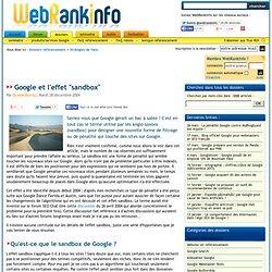 L'effet Sandbox dans l'algorithme de Google