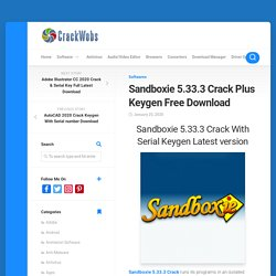 Sandboxie 5.33.3 Crack Portable Plus Serial key Download