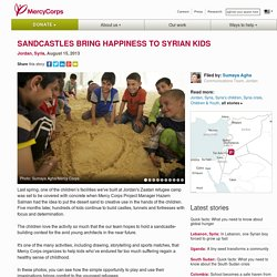 Sandcastles bring happiness to Syrian kids