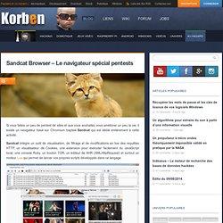 Sandcat Browser - Le navigateur spécial pentests