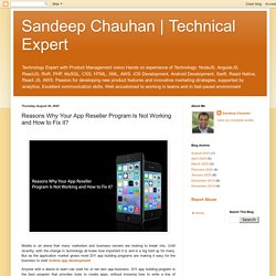 Technical Expert: Reasons Why Your App Reseller Program Is Not Working and How to Fix it?