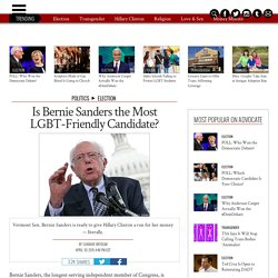 Is Bernie Sanders the Most LGBT-Friendly Candidate?
