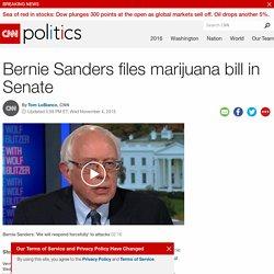 Bernie Sanders files marijuana bill in Senate