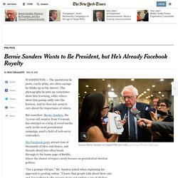 Bernie Sanders Wants to Be President, but He's Already Facebook Royalty