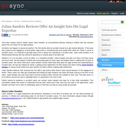 Julian Sanders Reviews Offer An Insight Into His Legal Expertise