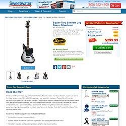 Squier Troy Sanders Jag Bass - Silverburst