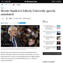 Bernie Sanders's Liberty University speech, annotated