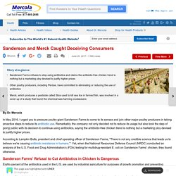 Sanderson and Merck Caught Deceiving Consumers - 15 Highlights with LINER