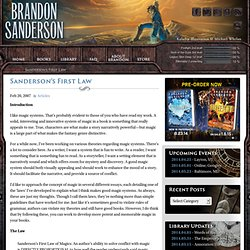 Brandon Sanderson: Sanderson's First Law
