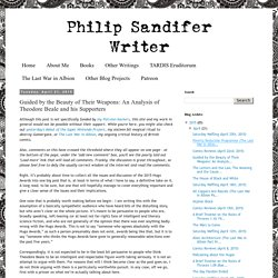 Philip Sandifer: Writer: Guided by the Beauty of Their Weapons: An Analysis of Theodore Beale and his Supporters