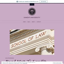 Road Map To Sandip University Top Law School in Nashik