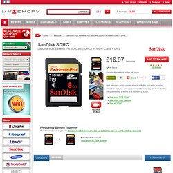 SanDisk 8GB Extreme Pro SD Card (SDHC) 95 MB/s- Class 1 UHS £16.99 - Free Delivery