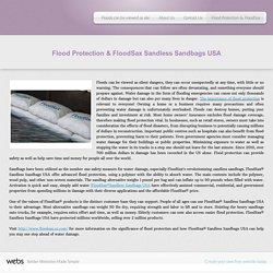 Sandless sandbag - Flood Protection & FloodSax
