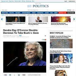 Sandra Day O'Connor Doubts Decision To Take Bush V. Gore