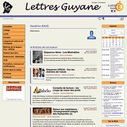 Sandrine BAUDLettres Guyane